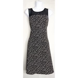 Vince camuto M black lace polka dot slip dress